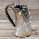 skullvikings viking norse larp larping game of thrones regular polished hand made natural viking drinking horn tankard mug