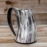 skullvikings viking norse larp larping game of thrones large polished hand made natural viking drinking horn tankard mug