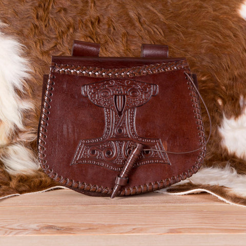 Brown Thor Leather Pouch