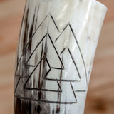Valknut Carved Drinking Horn