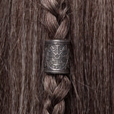 Bronze Vegvisir Hair Bead