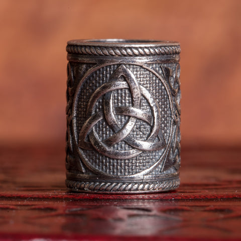 325 Sterling Silver Trinity Knot (Triquetra) Hair Bead