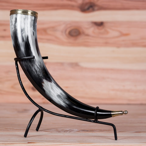 Ornate Metal Rim Drinking horn