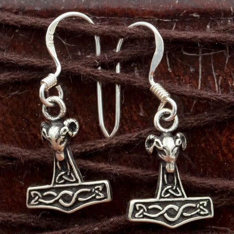 925 Silver Thor's Hammer (Mjolnir) Earrings