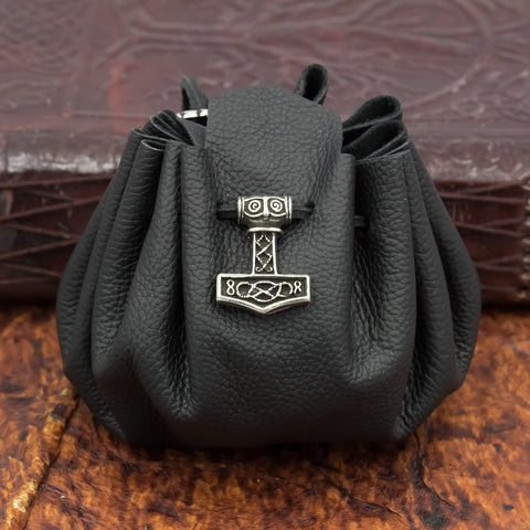 Black Thor Leather Pouch