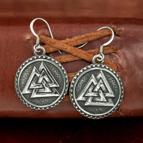 Stainless Steel Valknut Earrings
