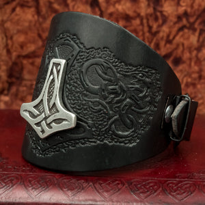 You added Black Mjolnir Leather Wide Cuff to your cart.