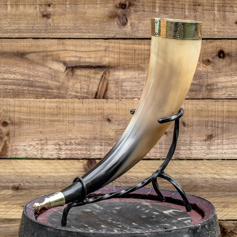 Hand Forged Iron Horn Stand (Small)