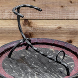 Twisted Hand Forged Iron Horn Stand (Large)