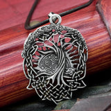 Yggdrasil viking tree of life pendant on cord