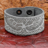 UK Yggdrasil Tree Of Life Viking Norse Leather Cuff
