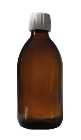 300 ml Amber brown glass bottles with cap - 54 pieces