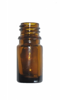 5 ml Amber brown glass bottle