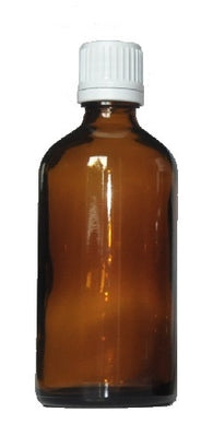 100 ml Amber brown glass bottles with dropper - 68 pieces