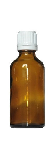 50 ml Amber brown glass bottles with dropper - 105 pieces