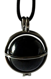Shungite ball 20 mm in silver plated jewellery