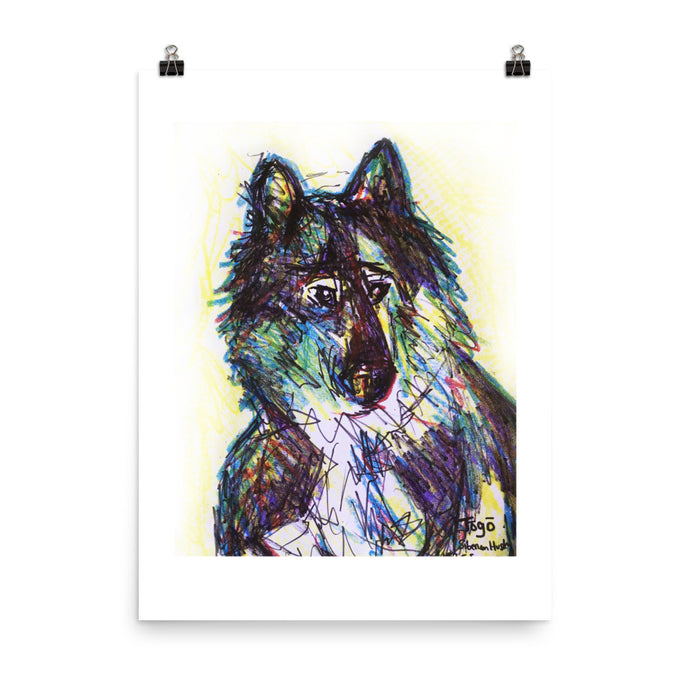 Togo the heroic sled dog, Art print