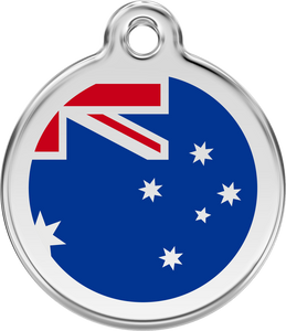 "Red Dingo ""Flags"" Enamel Dog Tag"