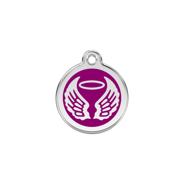 Red Dingo Enamel Dog Tag - Angel Wings