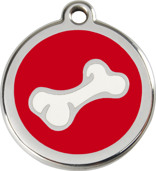 Red Dingo Enamel Dog Tag - Bone 2
