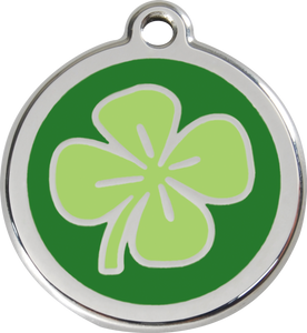 "Red Dingo ""Clover"" Enamel Dog Tag"