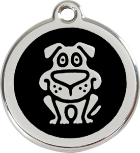 Red Dingo Enamel Dog Tag - Dog
