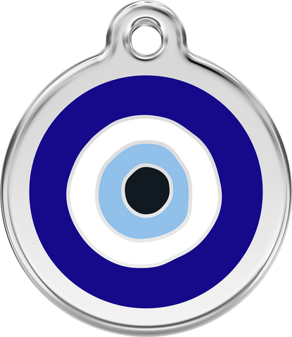 "Red Dingo ""Evil Eye"" Enamel Dog Tag"