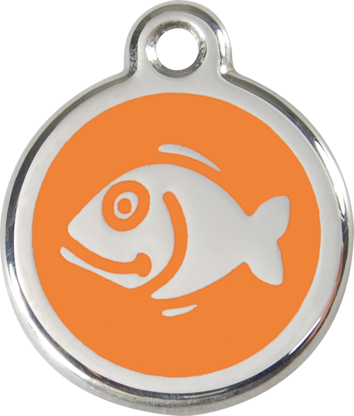Red Dingo Enamel Cat Tag - Fish
