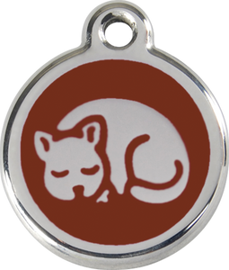 Red Dingo Enamel Cat Tag - Kitten