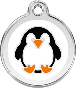 "Red Dingo ""Penguin"" Enamel Dog Tag"
