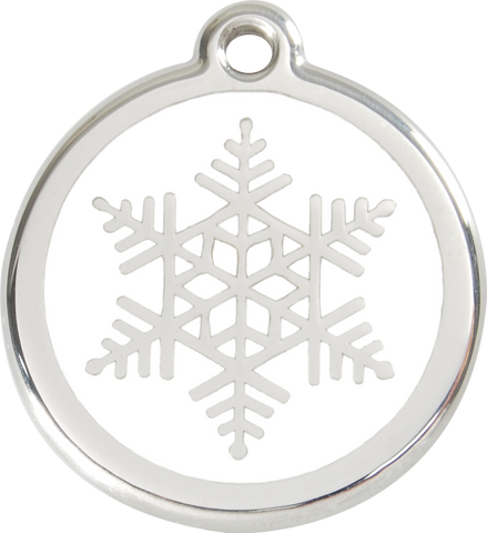 "Red Dingo ""Snowflake"" Enamel Dog Tag"