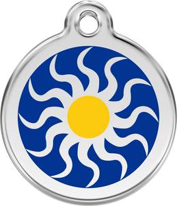 "Red Dingo ""Tribal Sun"" Enamel Dog Tag"