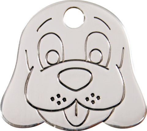 "Red Dingo Stainless Steel ""Dog Face"" Tag"