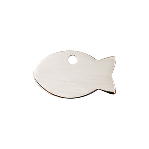"Red Dingo Stainless Steel ""Fish"" Pet Tag"