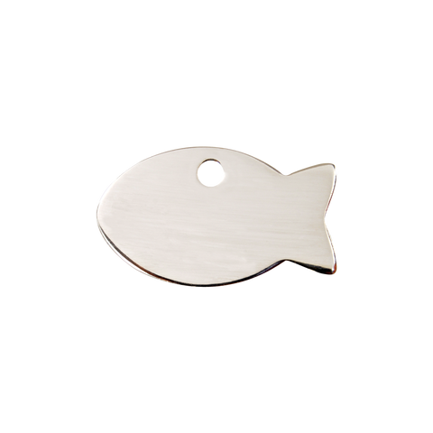 "Red Dingo Stainless Steel ""Fish"" Tag"