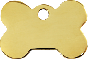 "Red Dingo Brass ""Bone"" Dog Tag"
