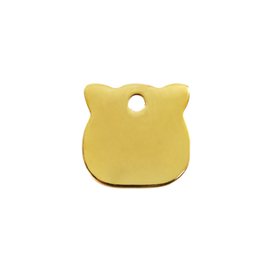 "Red Dingo Brass ""Cat Head"" Tag"