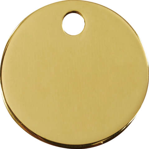 "Red Dingo Brass ""Circle"" Tag"