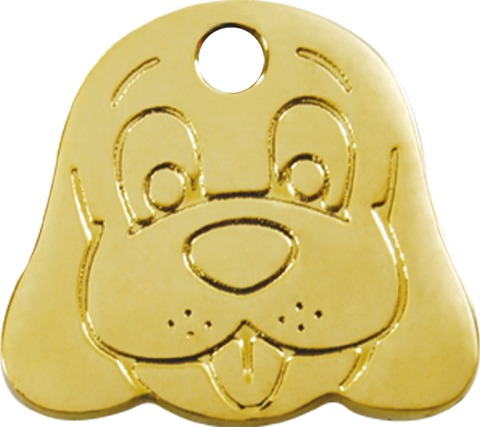 "Red Dingo Brass ""Dog Face"" Tag"