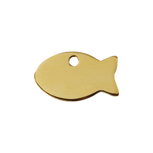 "Red Dingo Brass ""Fish"" Tag"