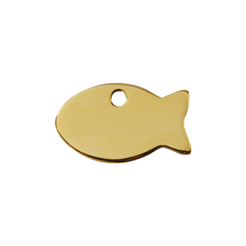 "Red Dingo Brass ""Fish"" Pet Tag"