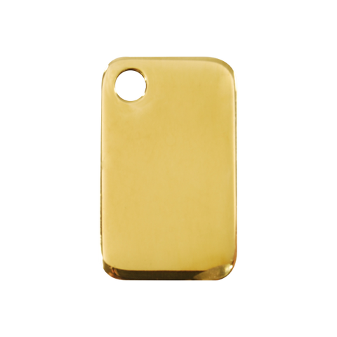 "Red Dingo Brass ""Rectangle"" Dog Tag"