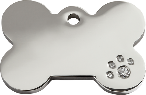 "Red dingo Diamante ""Bone"" Pet Tag"