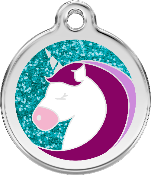 "Red Dingo ""Unicorn"" Glitter Dog Tag"