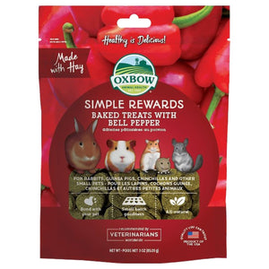 Oxbow Simple Rewards Baked Treats with Bell Pepper 85g