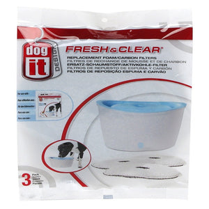 Dogit Fresh & Clear Foam/carbon Filters For 6l Fountain 3pack - Pica's Pets