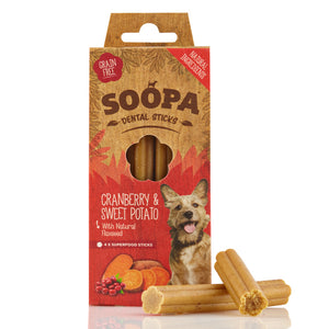Soopa Dental Sticks Cranberry & Sweet 100g - Pica's Pets