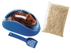 Koky Hamster Toilet With Scoop Mixed Colours