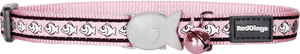 Red Dingo Reflective Fish Cat Collar - Pale Pink