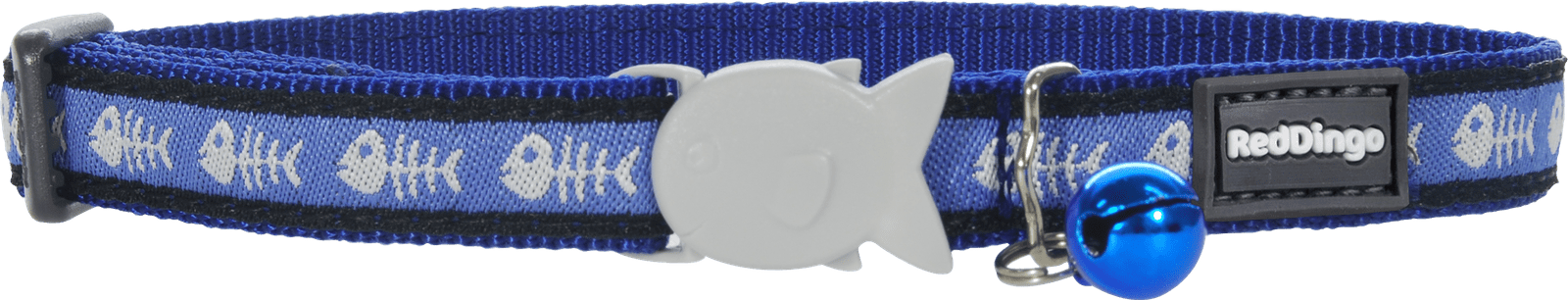 Red Dingo Fishbone Cat Collar - Blue